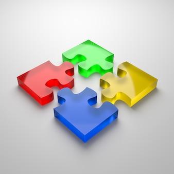 Puzzel samenwerking concept geïsoleerd