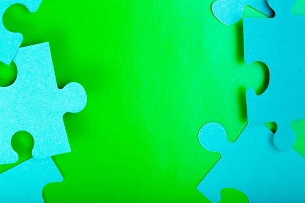 Puzzel stukjes met lege ruimte voor tekst