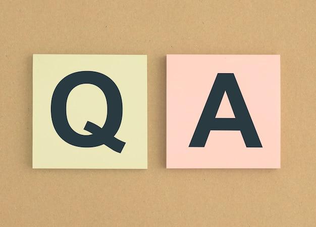 Qa concept qna acroniem vragen en antwoorden