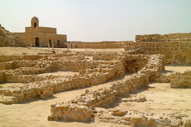 Qal'at al-bahrain, oude haven en hoofdstad van de beschaving dilmun in manama, bahrein