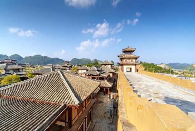 Qin en han oud stadspark, guizhou, china.