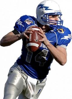 Quarterback american football wedstrijd sport