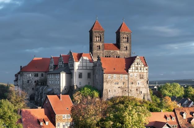 Quedlinburg castle in quedlinburg