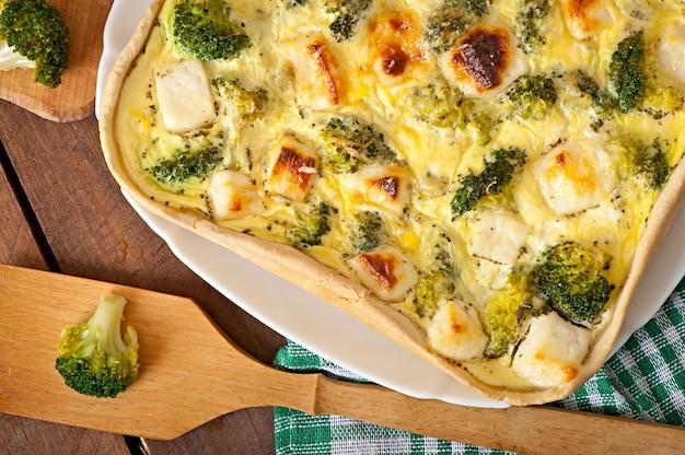 Quiche met broccoli en fetakaas