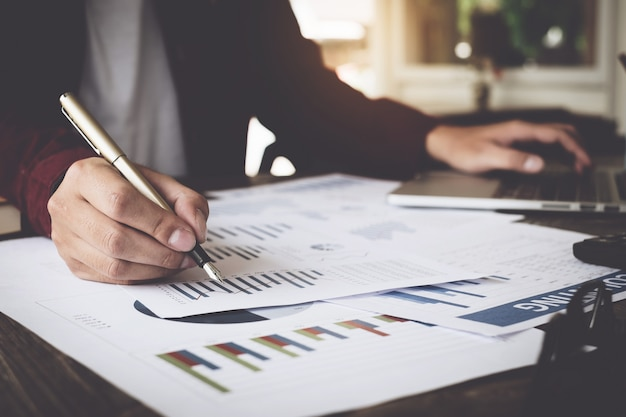 Raadpleeg financieel concept