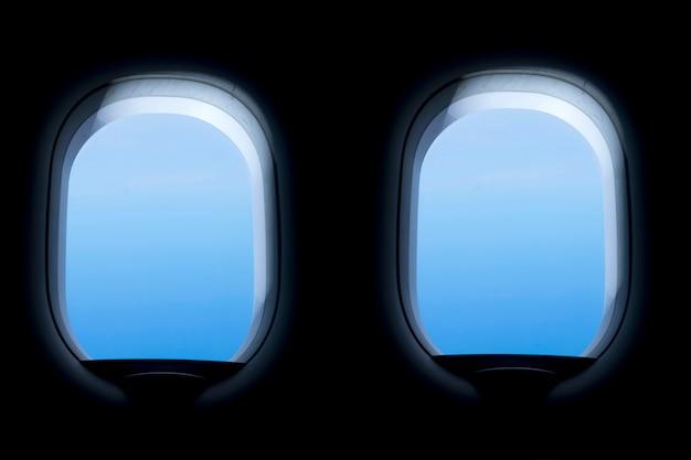 Raam van het vliegtuig