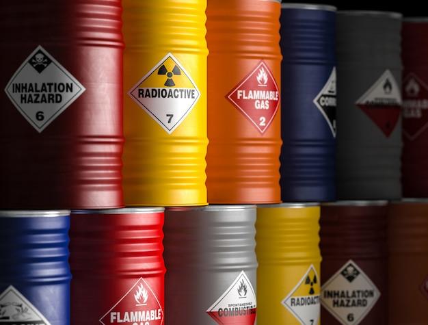 Radioactief geel vat