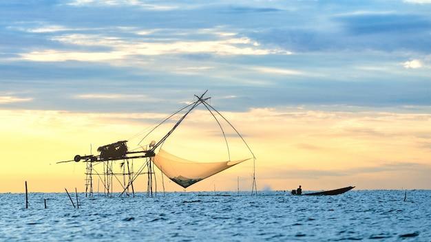 Raft dip net tool voor het vangen van vis
