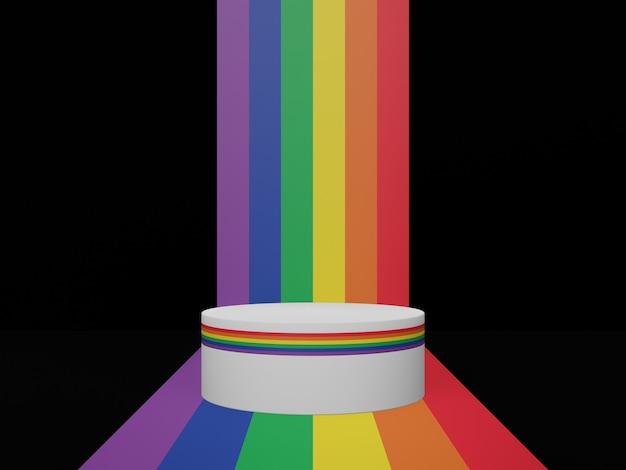 Rainbow lgbtq-stand