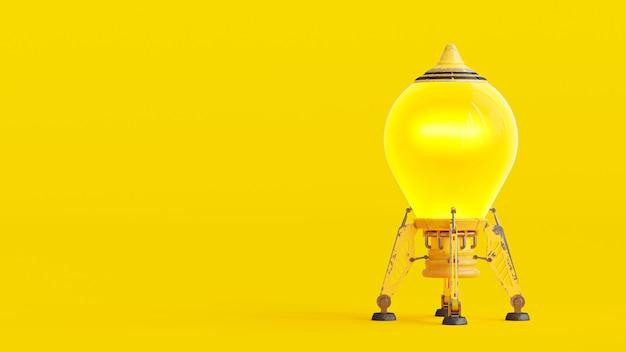 Raket gele kleur