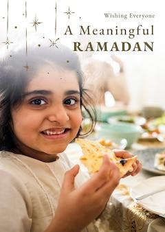 Ramadan heilige maand groet poster