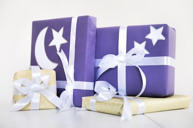 Ramadansamenstelling met cadeautjes