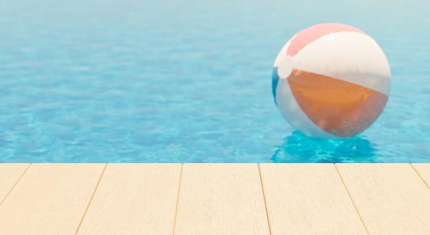 Rand aan het zwembad voor productweergave