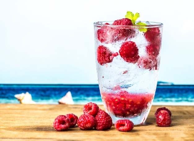 Raspberry mint doordrenkt van water recept