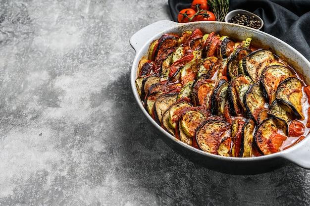 Ratatouille, huisgemaakte groenteschotel