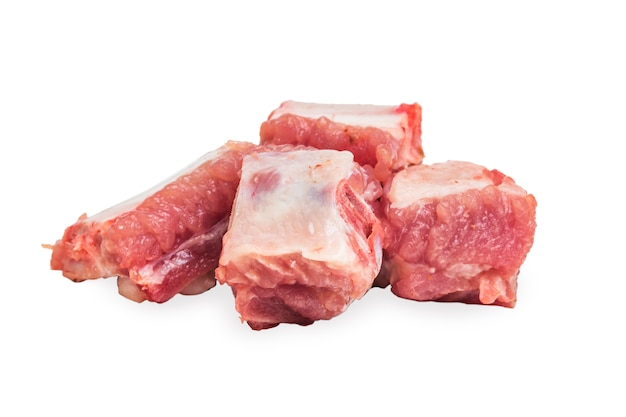 Rauw varkensvlees ribben
