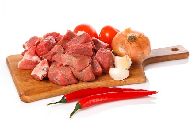 Rauw vlees aan boord