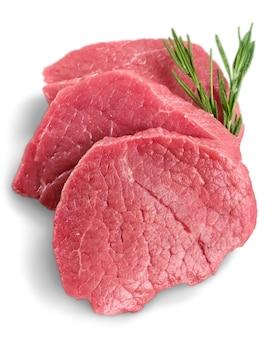 Rauw vlees geïsoleerd