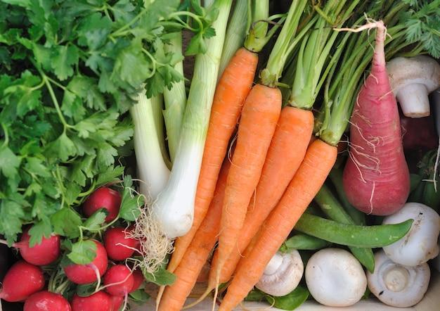 Rauwe groenten achtergrond