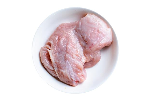 Rauwe kalkoen of kipfilet vers vlees gezonde maaltijd snack