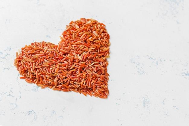 Rauwe rode rijst