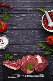 Rauwe vlees steak entrecote