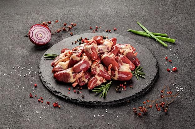 Rauwe vleesproducten verschillende delen van het lichaam