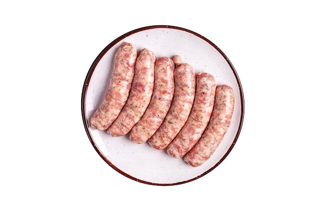Rauwe worstjes groentesnack eiwit seitan vleesloos soja tarwe vegetarisch of veganistisch tussendoortje