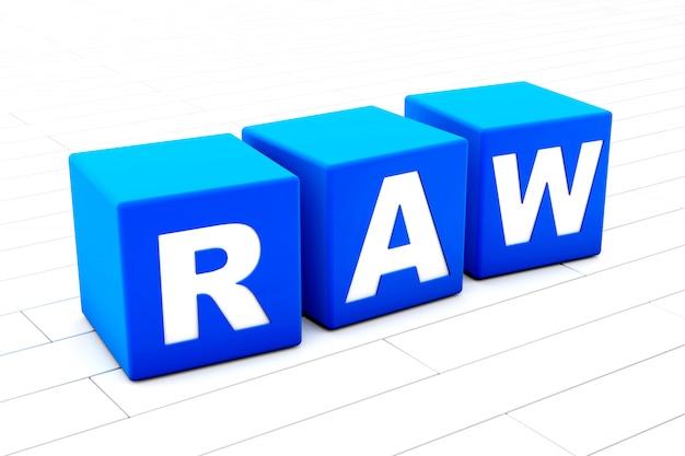 Raw woord illustratie