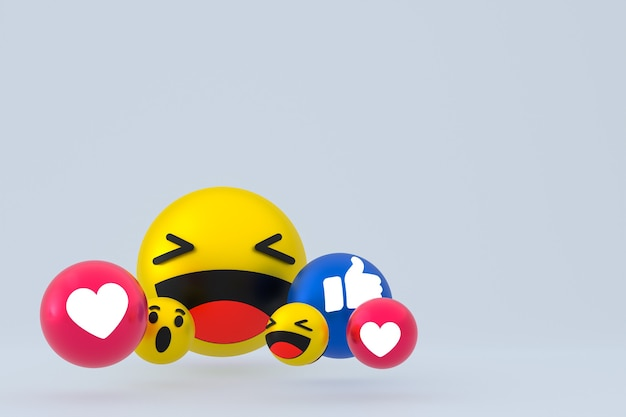 Reactie emoji's 3d render