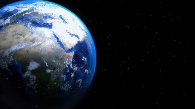 Real earth 3d render