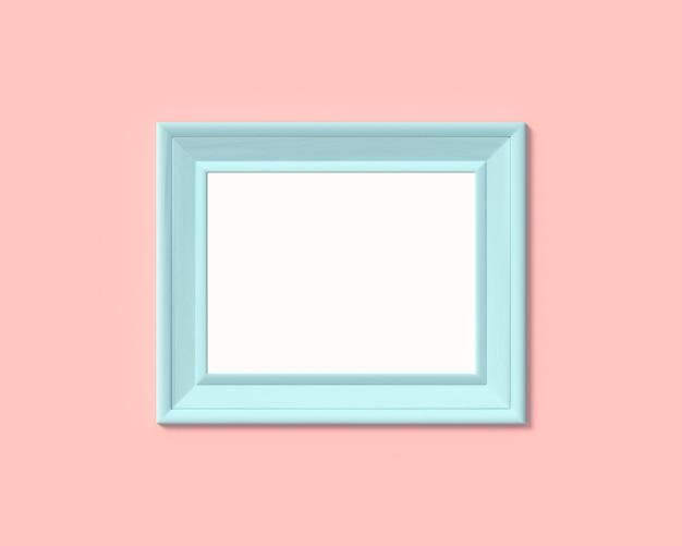 Realisitc papier, houten of plastic blauw blanco voor foto's
