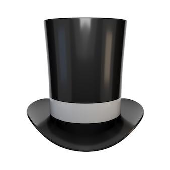 Realistisch beeld van hoge hoeden. retro cilinderdop