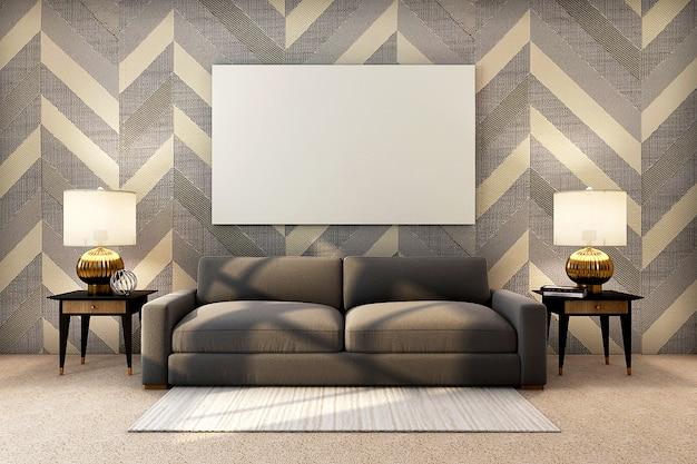Realistisch, luxe gouden interieur