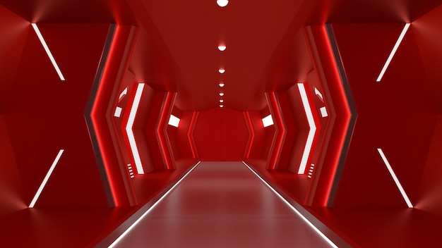 Realistisch rood ruimteschip