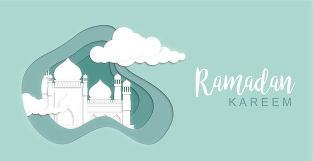 Realistische 3d ramadan achtergrond