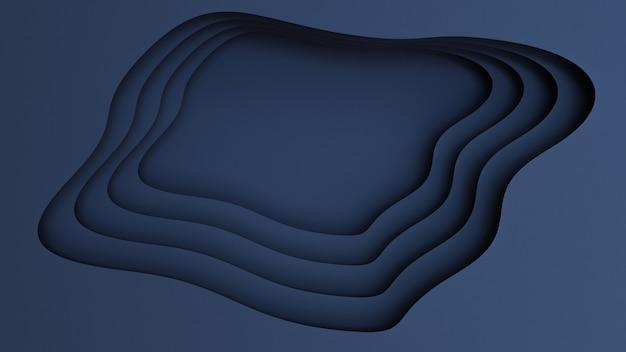 Realistische blauw papier gesneden achtergrond Premium Foto