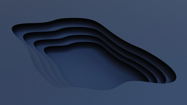 Realistische blauw papier gesneden achtergrond