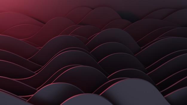 Realistische donkere papier gesneden achtergrond. abstracte papieren poster geweven met golvende lagen. imitatie van topografie-reliëf.