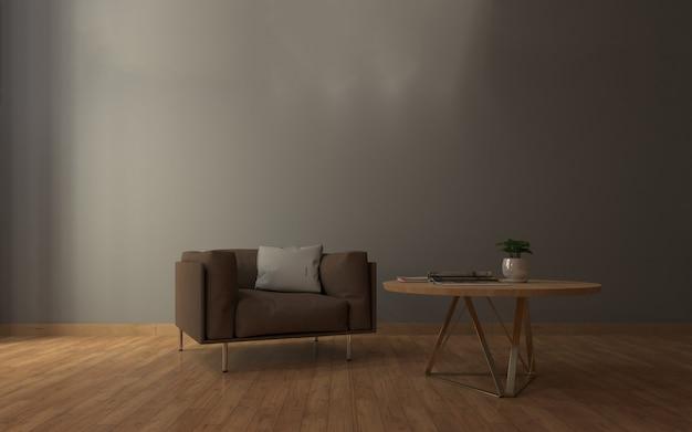 Realistische mockup van woonkamer inerior
