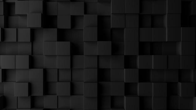 Realistische muur van kubussen