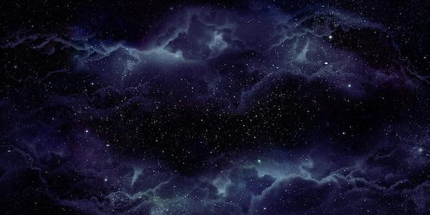 Realistische nevel ruimte achtergrond de stralende sterren meegesleurd met sterrenstof en de fantasie melkweg. magische kleur melkwegstelsel het universum en de sterrenhemel 3d illustratie