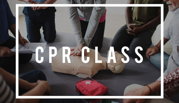 Reanimatietraining demonstratieklasse emergency life rescue