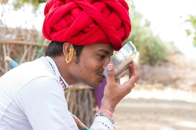 Rebari, plattelandsbewoners van rajasthan, india