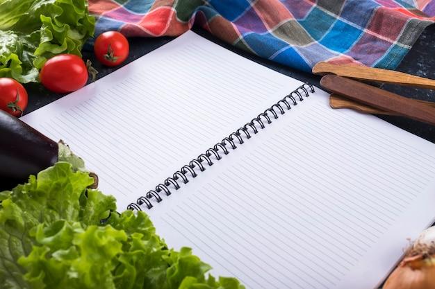 Recept kookboek met kopieerruimte