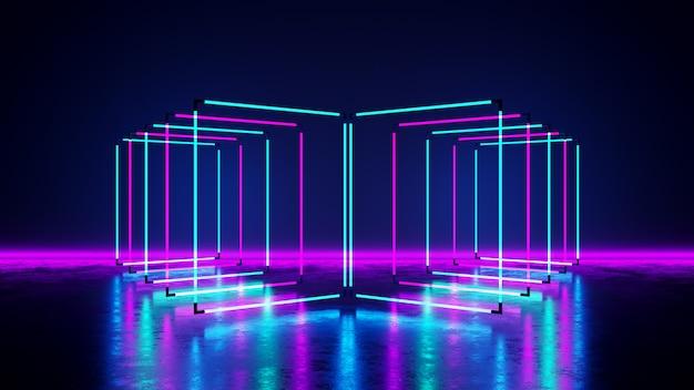 Rechthoek neonlicht