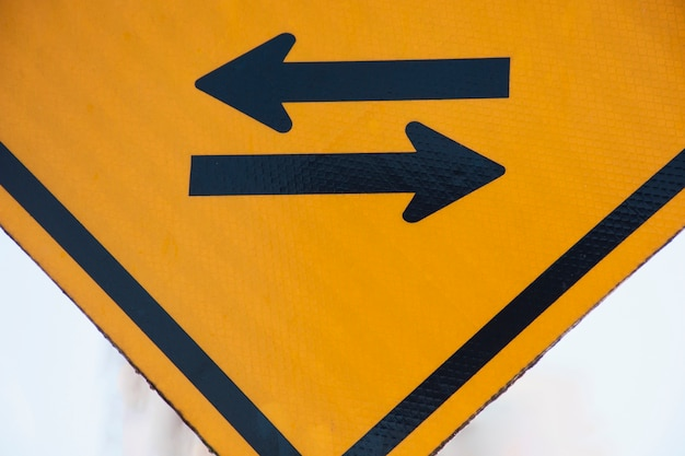 Rechts en links voertuig pijl tekenen