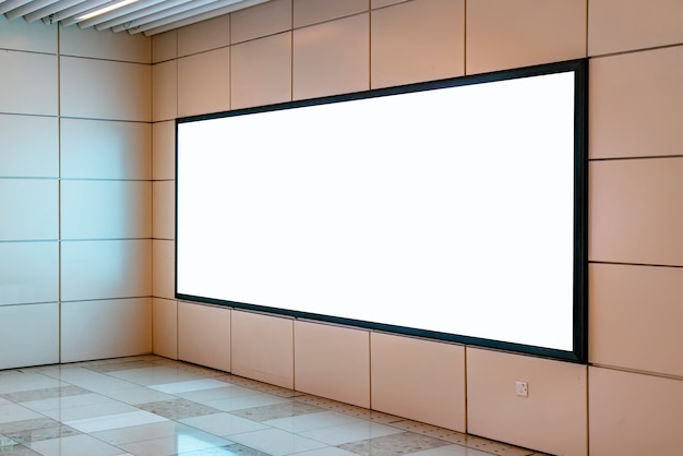 Reclame-lichtbak voor reclame op metrostation