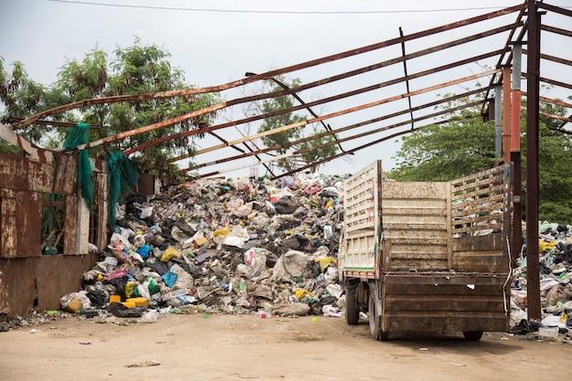 Recycle fabriek landschap