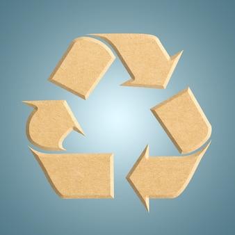Recycle logo van gerecycled karton